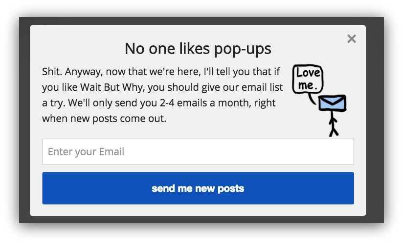 no one likes popups